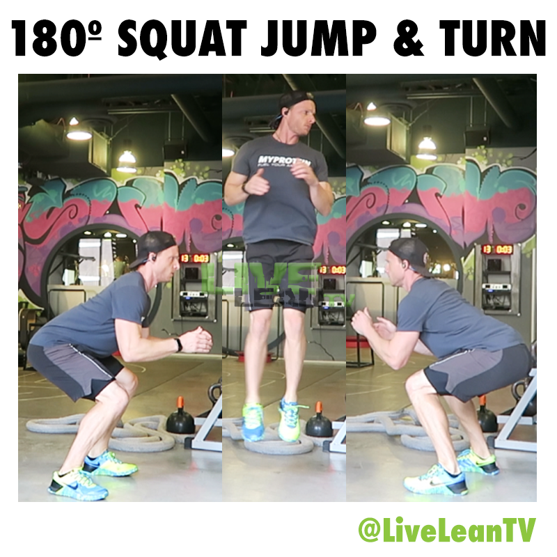 180 Squat Jump and Turn