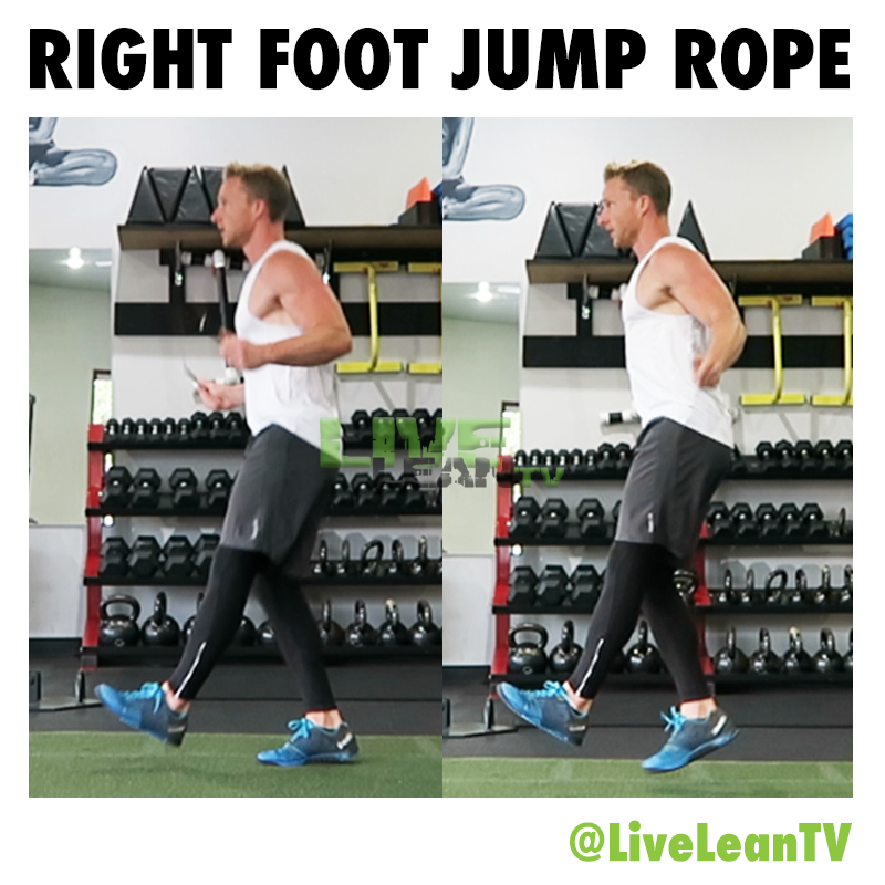 RIGHT FOOT JUMP ROPE