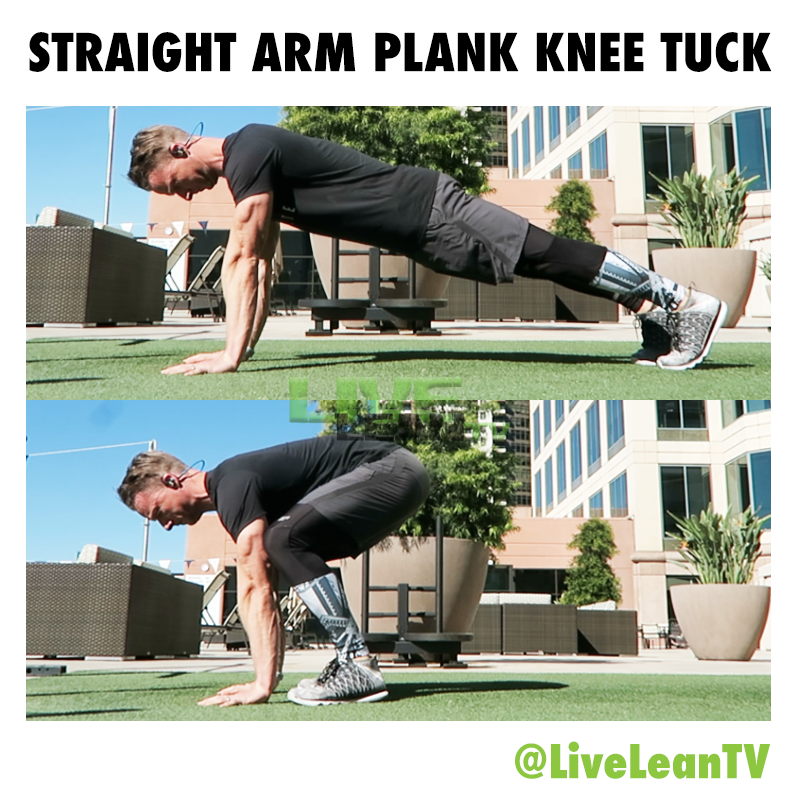 Straight Arm Plank Knee Tuck