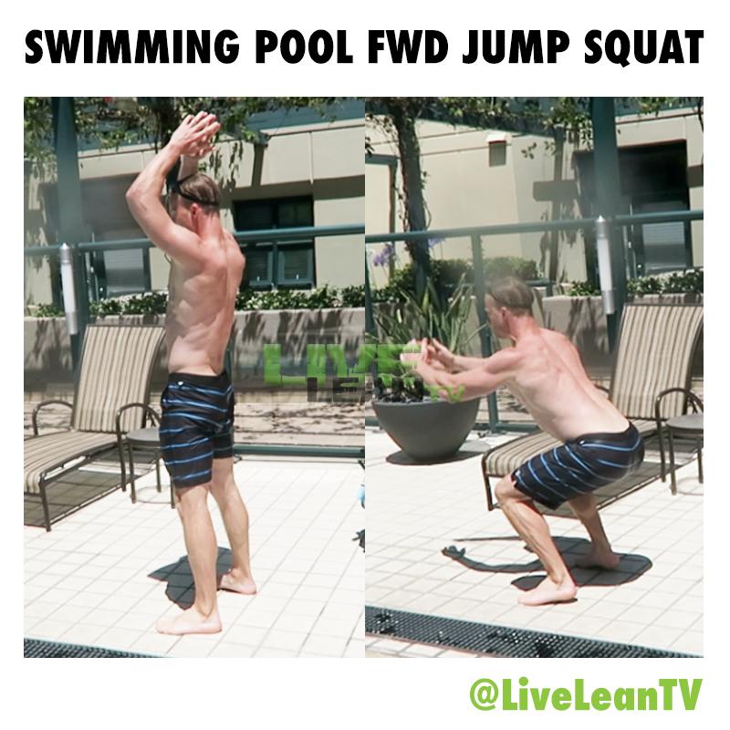 Swimming Pool Forward Jump Squat