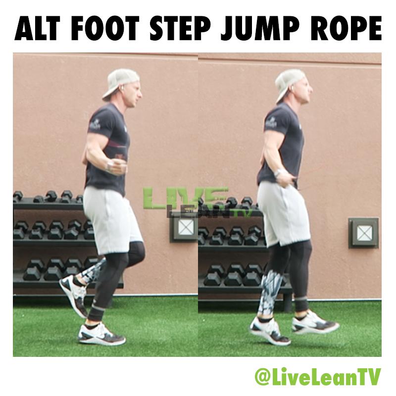 ALTERNATE FOOT STEP JUMP ROPE