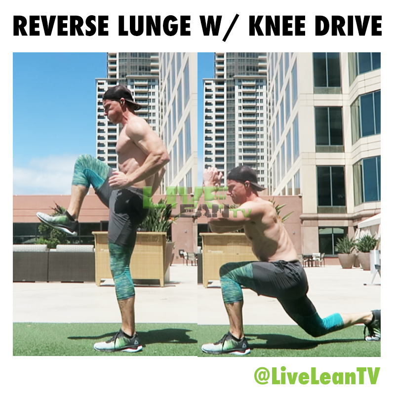 REVERSE LUNGE WITH KNEE DRIVE