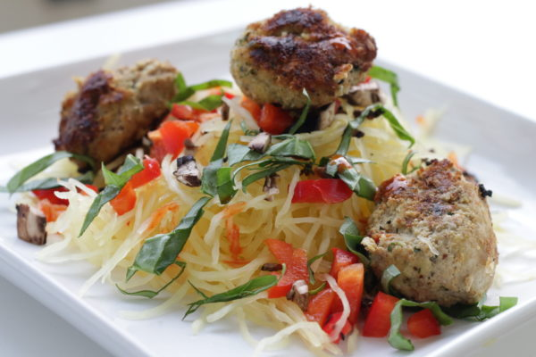 Tasty Spaghetti Squash And Turkey Meatballs