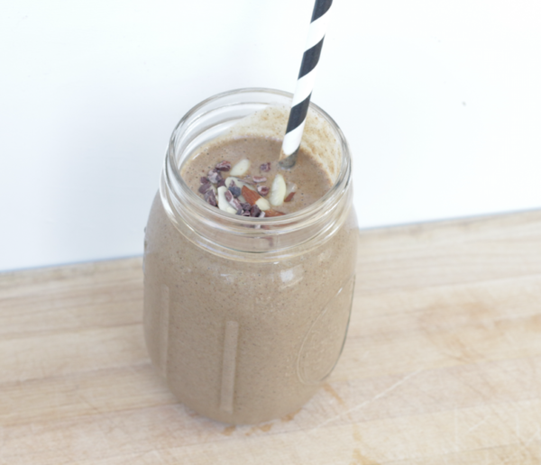 Chocolate Almond Butter Cup Protein Shake For Muscle Building