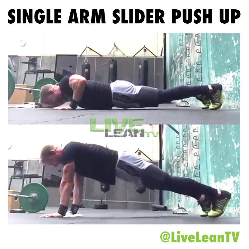 Single Arm Slider Push Up