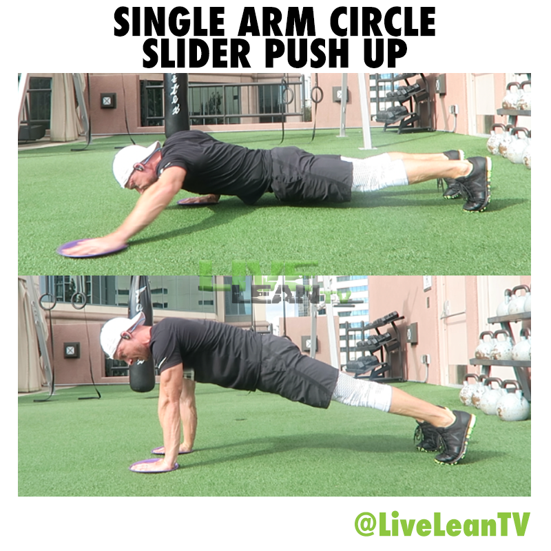 Single Arm Circle Slider Push Up