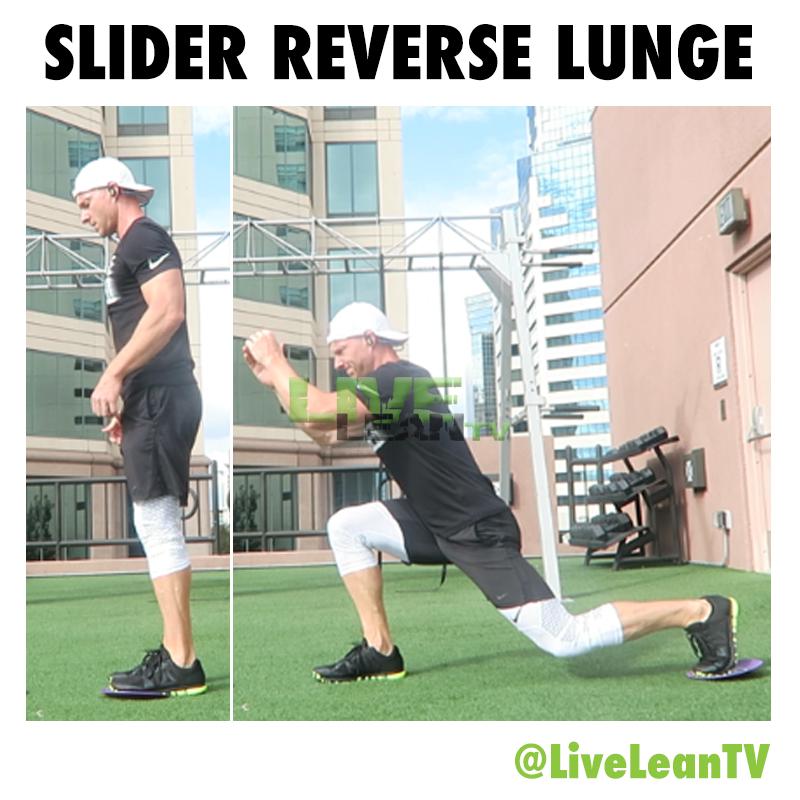 slider reverse lunge