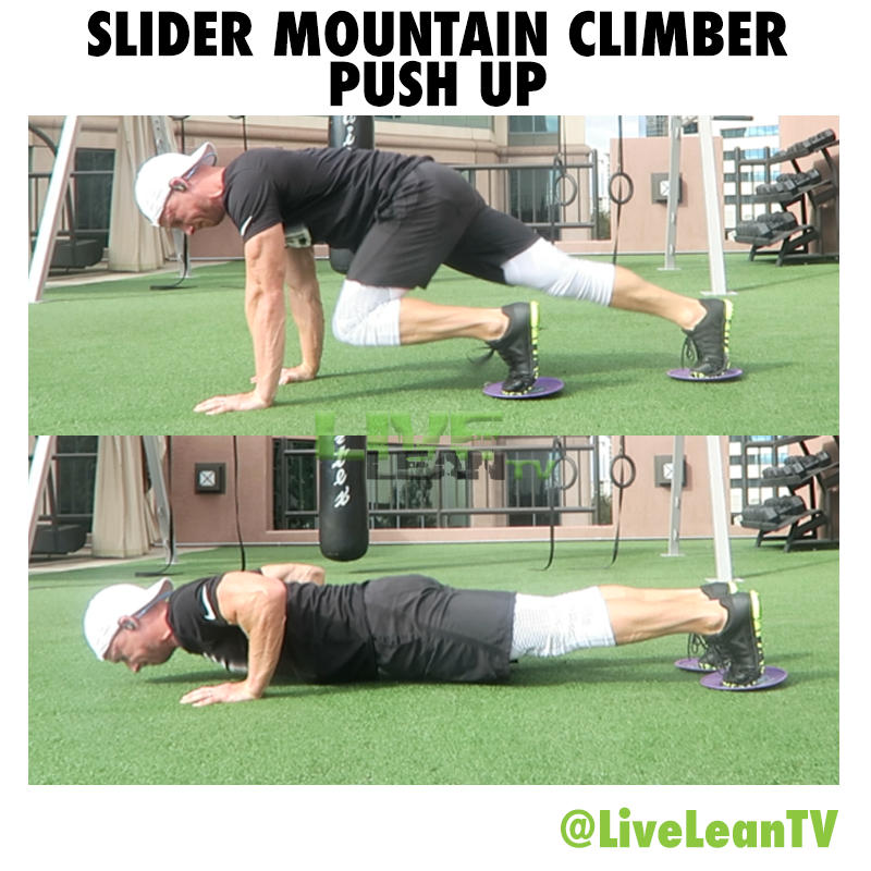 Slider Mountain Climber Push Up