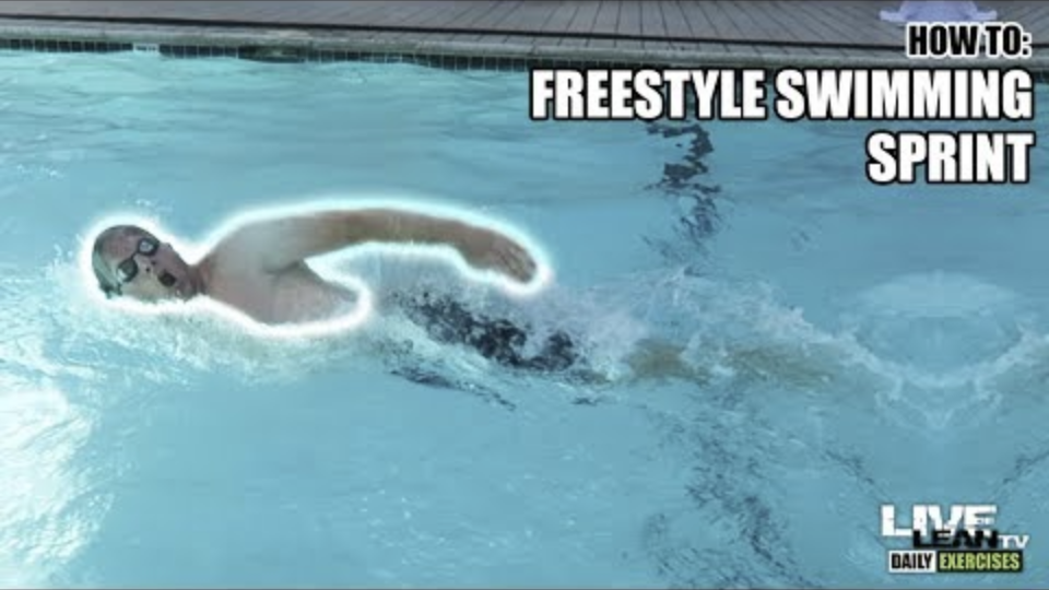 How To Do FREESTYLE SWIMMING SPRINTS | Exercise Demonstration Video and Guide