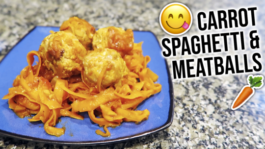 Carrot Spaghetti Recipe With Turkey Meatballs