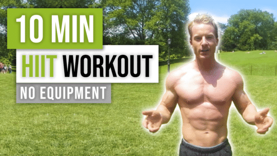 10 Minute HIIT Workout For Fat Loss No Equipment