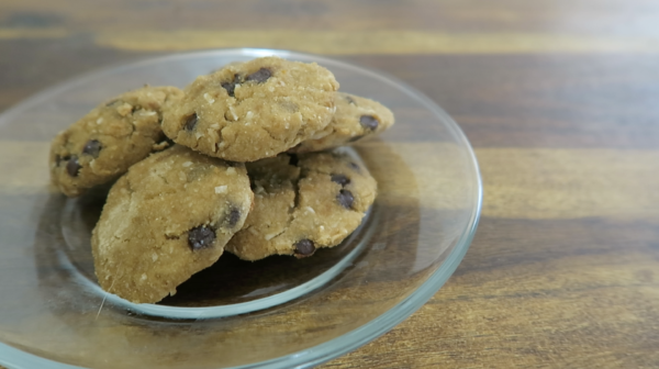 Healthy Chocolate Chip Coconut Cookies